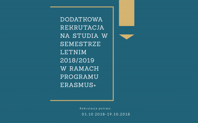 Rekrutacja lato 2018-2019 Erasmus+