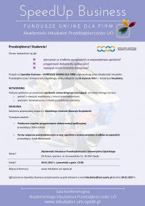 SpeedUp Business zaproszenie